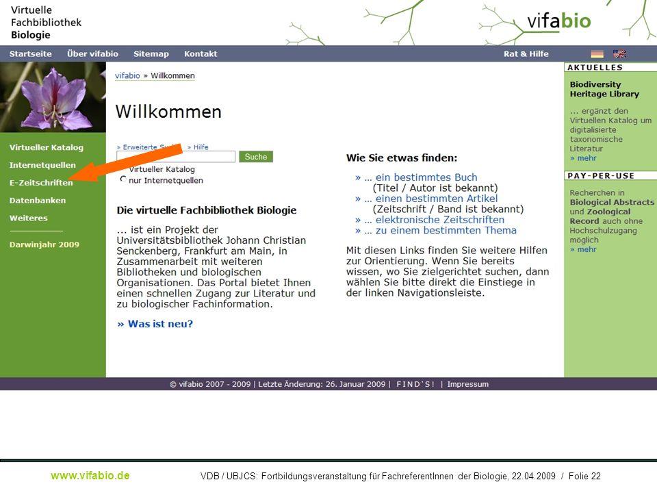 [ Bildschirmfoto: ] Startseite: EZB-Link